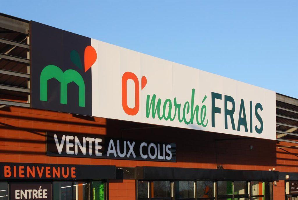 panneau aluminium - O' Marché Frais
