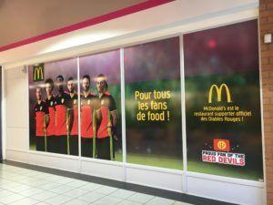 Lettrage vitrine - McDonald