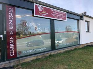 Lettrage vitrine MVC