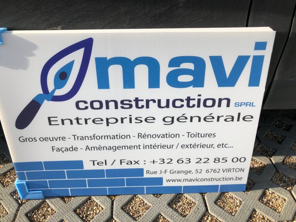 Panneaux de chantier entreprise Mavi de Virton