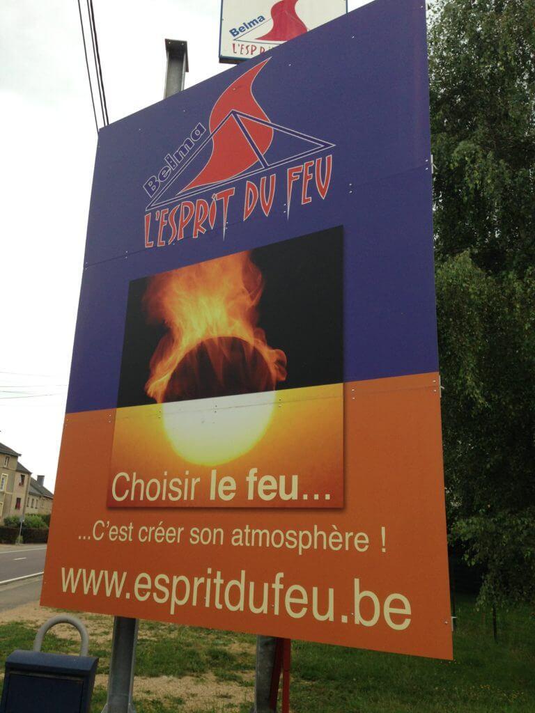 Panneau en aluminium - Esprit du feu Arlon