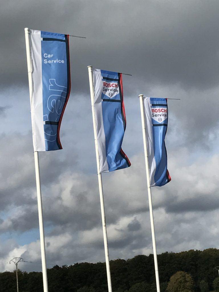 Réalisation de drapeau pour Bosch