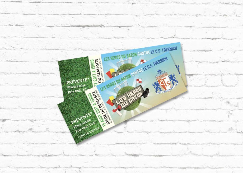 Ticket de pré-vente pour les Héros du Gazon