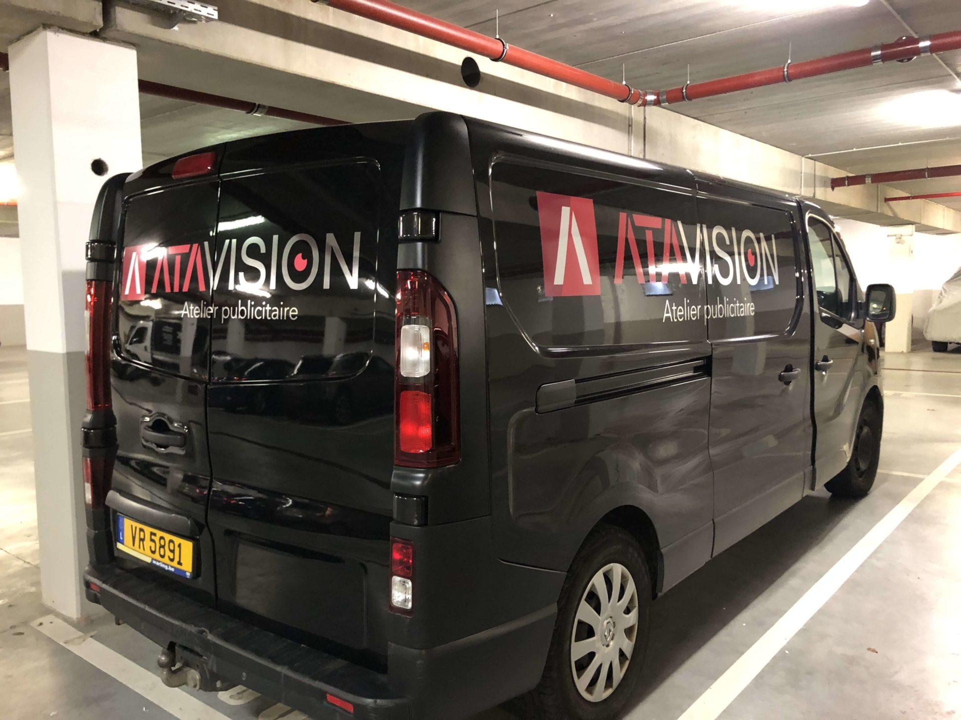 Lettrage Camionnette ATA Vision