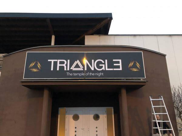 Caisson lumineux Triangle